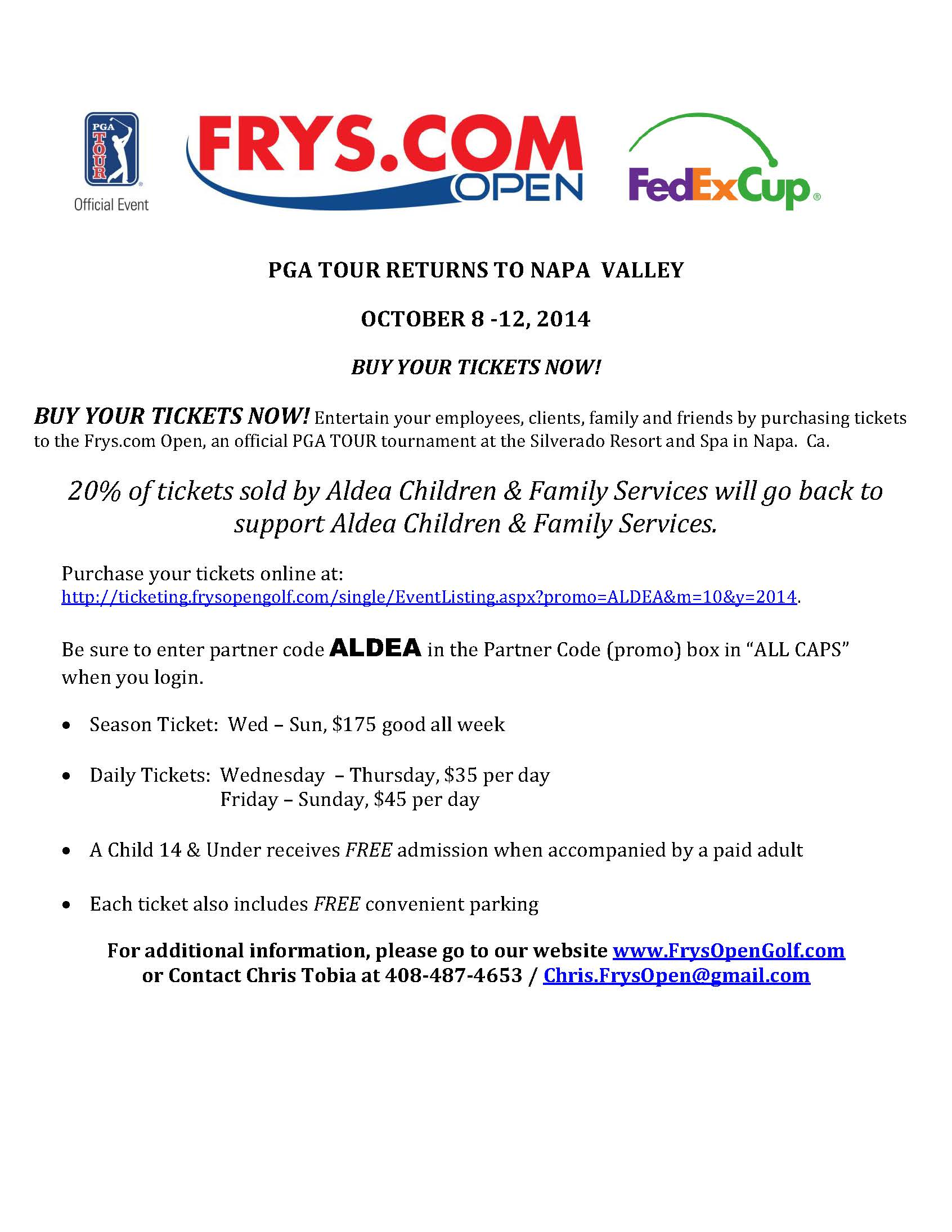 You can support Aldea while attending the Frys... - Aldea Children ...
