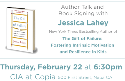 Jessica Lahey Author Talk and Book Signing- The Gift of Failure