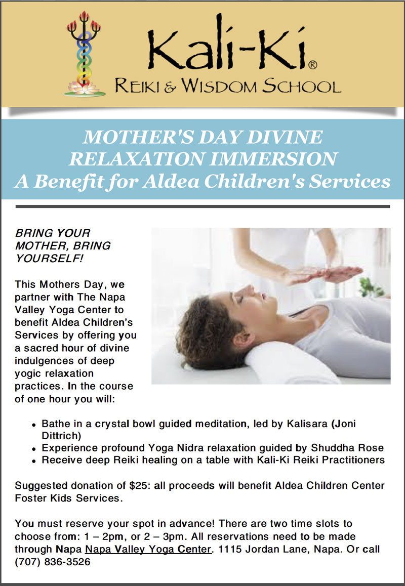 MOTHER'S DAY DIVINE RELAXATION IMMERSION A Benefit for Aldea Children's Services