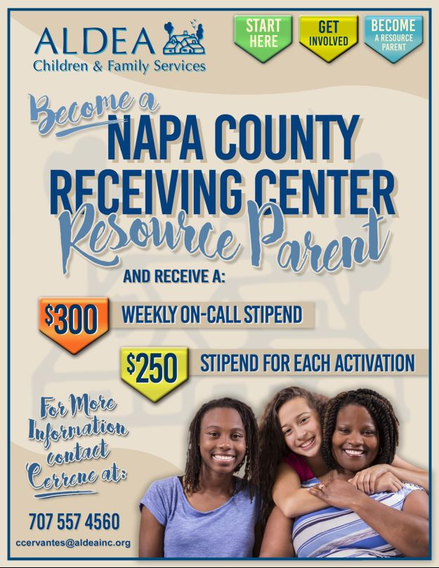 Become a Napa County Receiving Center Resource Parent